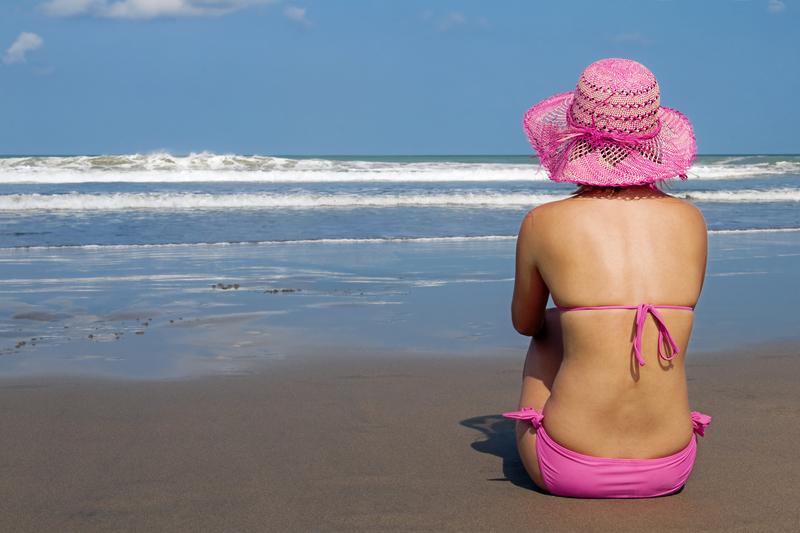 Foto von Frau am Strand