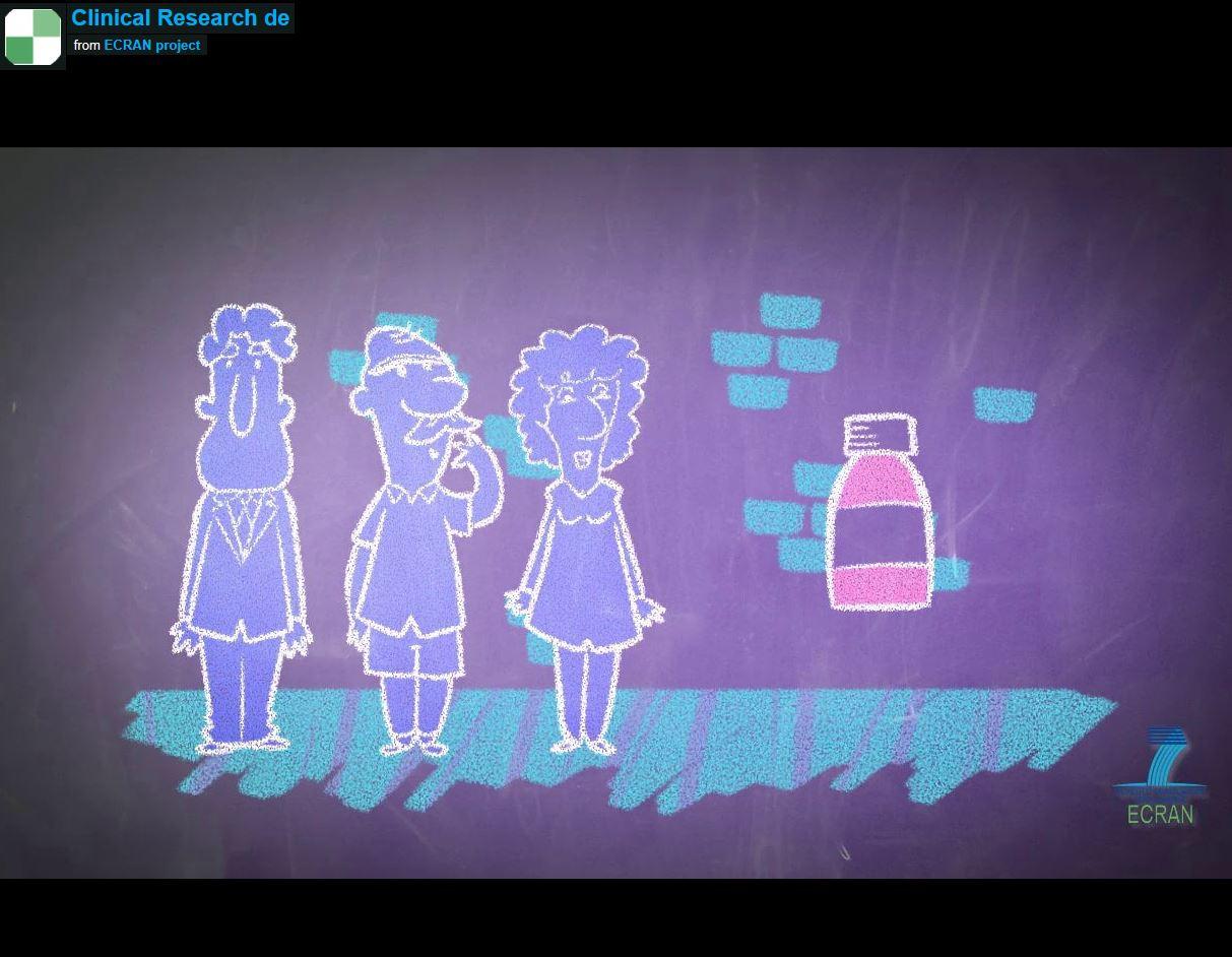Video: Zeichentrickfilm zu klinischen Studien, © ecranproject.eu