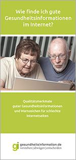 Grafik: Deckblatt Flyer Gute Gesundheitsinformationen